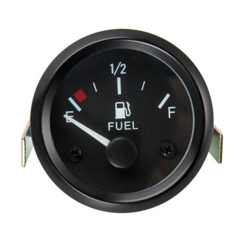 "Car 2/"" 52mm Fuel Level Gauge Meter With Fuel Sensor E-1//2-F Pointer Universal US"