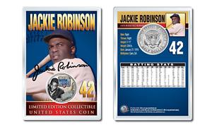 JACKIE-ROBINSON-Military-Legends-JFK-Half-Dollar-U-S-Coin-in-PREMIUM-HOLDER