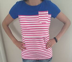 Nursing-breastfeeding-Tshirt-top-with-stripe-pattern-BNWT
