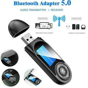 5 in1 Bluetooth 5.0 Audio Trasmettitore Ricevitore PC LCD USB for TV Adattatore t2t8