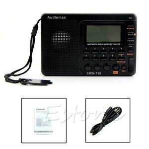 Digital-Tuning-LCD-Receiver-Portable-TF-MP3-REC-Player-AM-FM-SW-Full-Band-Radio