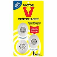 Victor Mini M753sn Rodent Repeller With Nightlight, 3-pack (not Available In Hi,