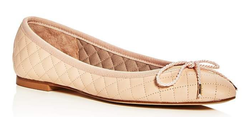 240 Dimensione 6 Paul Mayer Lido Quilted  Beige Leather Ballet Flat donna scarpe NEW  sconto