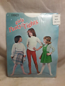 Vintage-Girls-Panty-Tights-White-size-8-10
