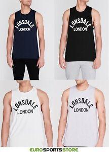 Lonsdale-Mens-Arch-Gym-Muscle-Vest-Sports-Singlet-Top-Size-S-M-L-XL-2XL-3XL