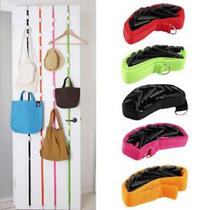 Adjustable-Door-Back-Straps-Hanger-Hat-Bag-Clothes-Rack-Holder-Hooks-Organizer