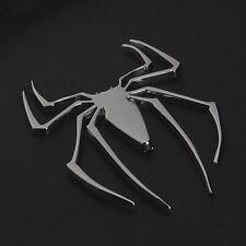 Metal Chrome Spider Spiderman Emblem Logo Universal Car Decal Badge Sticker