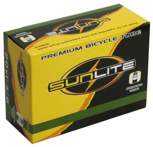 Sunlite Bicycle inner Tube 20x1-1//8 30mm Schrader valve kids bike 63123