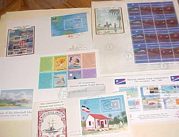MARSHALL ISLANDS FD SHEETLETS 5 DIFF. 1985-1990