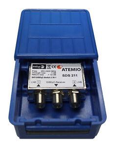 atemio sds211 diseqc schalter 2 1 mit wetterschutzgeh use. Black Bedroom Furniture Sets. Home Design Ideas