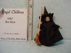 "Dollhouse Miniature Ethel Hicks Doll -""Bad"" Witch #587 Dollhouse Miniatures"