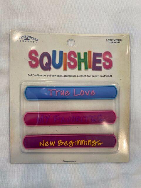 """Karen Foster Design Embellishment Squishies """"Love Words"""" Scrapbooking Crafts Art"""