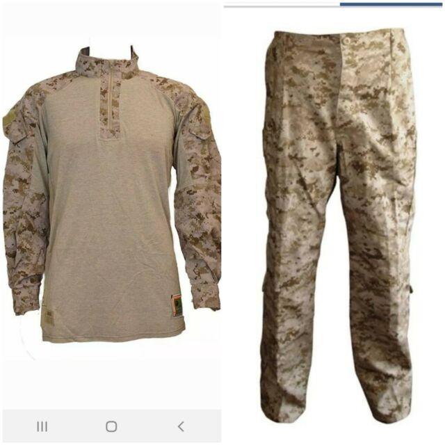 MEDIUM REGULAR NWT USMC Desert Digital Frog Shirt and Frog Pants COMBO FRC Size