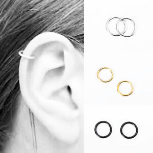 Fashion-Stainless-Steel-Piercing-Hoop-Earring-Helix-Nose-Ear-Cartilage-Ring-USA