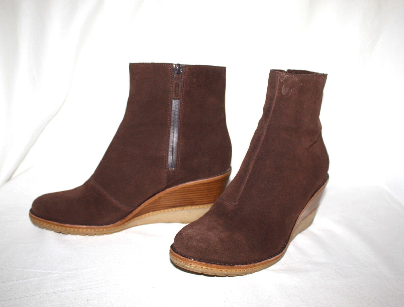 Cole Haan RAYNA Sz Braun Suede Waterproof Wedge Ankle Stiefel Damens's Sz RAYNA 9.5 B c06058