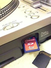 Technics SL-DZ-1200 sldz1200 Sd Cards 1Gb Serato/Traktor/Virtual Dj/Torq & More