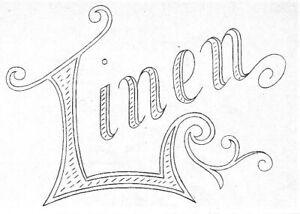 Vintage Visage iron on embroidery transfer-design for front of darning bag