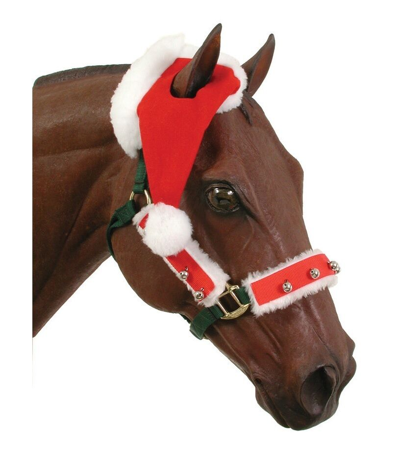 Santa Hat & Overlay Set for Horse - halter  not included parades Christmas photo  store sale outlet
