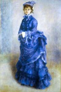 Pierre-Auguste-Renoir-The-Blue-Lady-Fine-Art-Poster-24x36-inch