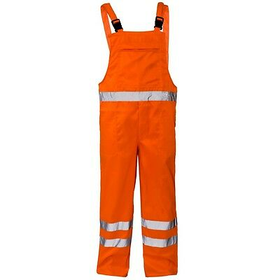Erfinderisch Supertouch Orange Hi Visibility Polycotton Work Bib And Brace Dungarees Trousers