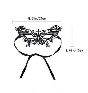 Gothic Steampunk Costume Venetian Masquerade LACE EYE//FACE MASK Black Butterfly