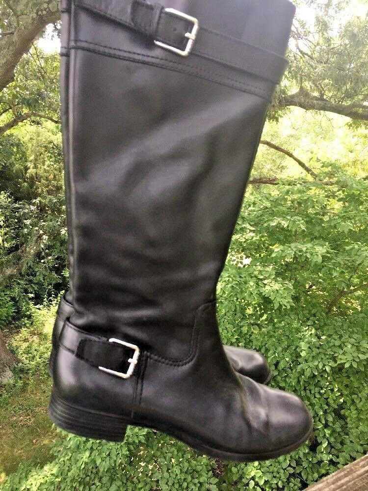 LAUREN RALPH LAUREN Polo Riding bottes Knee High LEATHER chaussures femmes Sz 6.5 b3