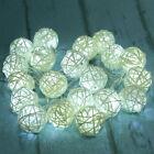20 LED String Light Fairy Lamp Wedding Party Curtain Rattan Ball Xmas Decor 2.5m