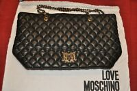 Borsa in Pelle Nera Love Moschino