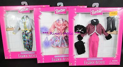 (Lot of 3) FASHION AVENUE INTERNATIONALE Barbie Doll Outfits #15902