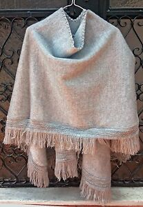 Baby-Alpaca-Wool-Poncho-Cape-Wrap-Shawl-Coat-Unisex-Handmade-All-seasons