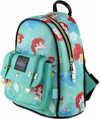 The Little Mermaid Ariel 10 Small Leather Backpack