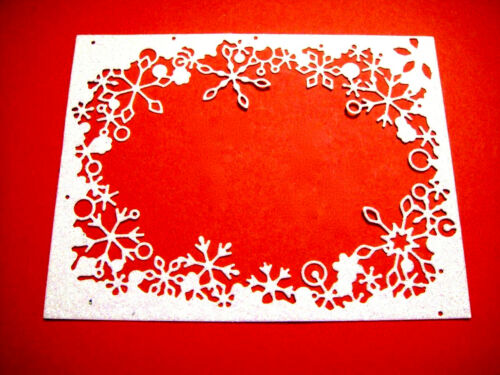 M.B Many Colours 4 Embossed Snowflake Frame Die Cuts Christmas