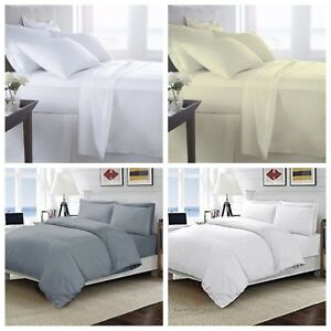 TC-400-Egyptian-Cotton-400-Thread-Bedding-Fitted-Flat-Sheet-Duvet-Quilt-Set