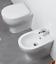miniatura 3 - Sanitari filo muro a terra Pratica Azzurra Vaso + Bidet + Sedile