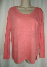 OLD NAVY Womens Long Sleeve Top Boyfriend Dolman Style Coral Pink New S Small