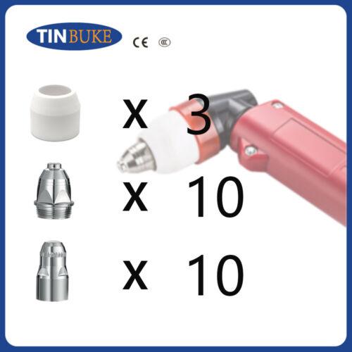 P80 Torch Plasma Cutter Cutting Consumable Nozzle//Tip Electrode 23Pcs