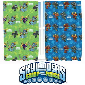 Skylanders-Swap-Force-66-x-54-034-Curtains-Matches-Duvet-Giants-New-Gift-Trap-Team