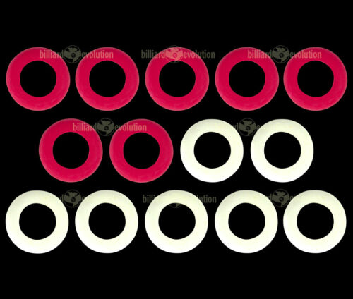 Small  Rubber Rings for Bumper Pool Table 7 Red /& 7 White Rings