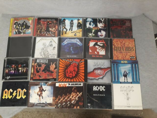 Lot Of 20 Heavy Metal, Rock AC/DC IRON MAIDEN / Metallica / MOTORHEAD / KISS GNR
