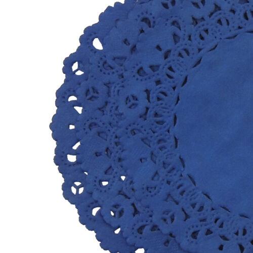 """ROYAL SAPPHIRE BLUE PAPER Lace DOILIES4/"""" 6/"""" 8/"""" 10/"""" 12/"""" 14/""""Dark Blue Doily"""