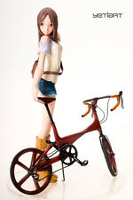 Bicycle & Girl Hand Painted Resin Garage Kit Yetiart Figurine Pre-order