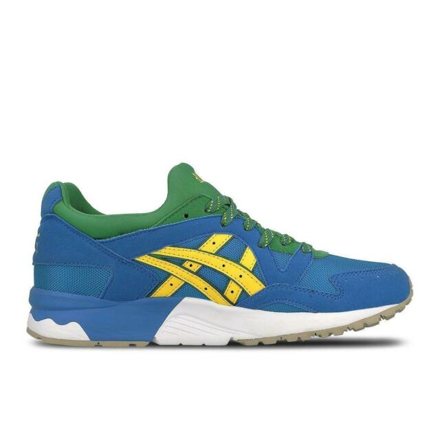 9336eda13afd7 Mens ASICS Gel-lyte V Classic Blue Yellow Suede Running Trainers ...