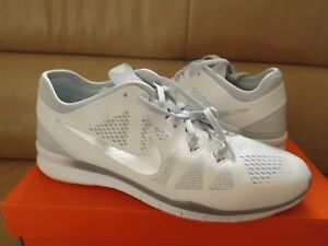 f6dba40d692f Nike Free 5.0 TR Fit 5 Women s Running Shoes Size 12 White Silver ...