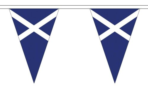 SCOTLAND ST ANDREW NAVY BLUE 20 metre TRIANGLE BUNTING 30 FLAGS flag 54 FLAGS