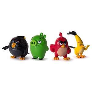 4-PVC-Figuren-Spielset-Angry-Birds-Set-Bomb-Red-Bird-Pig-Chuck-Spin-Master