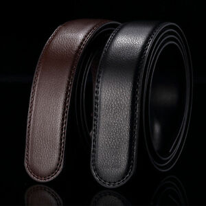 Fashion-Mens-Automatic-Real-Leather-Waist-Strap-Belts-Without-Buckle