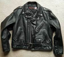 NEW Vintage Schott NYC Heavy Cowhide Leather Motorcycle Jacket Size 50 USA