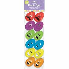 12pk Small Funny Face Eggs Easter Party Hunt Favours