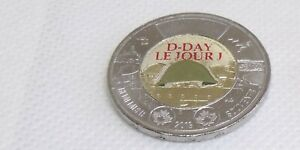 2019-Uncirculated-Canada-Anniversary-of-D-Day-Colored-Toonie-direct-from-Roll