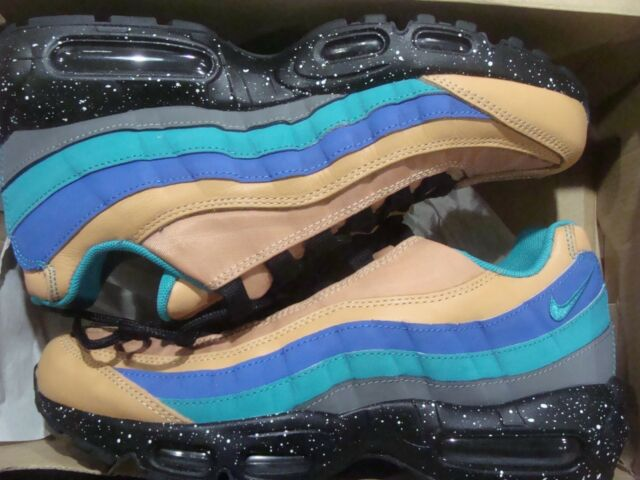 san francisco fef91 a9c01 Mens Nike Air Max 95 Premium Praline Turbo Green Cool Grey Mega Blue  538416-204 US 11